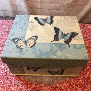 Large Decorative Box With Velcro Lid